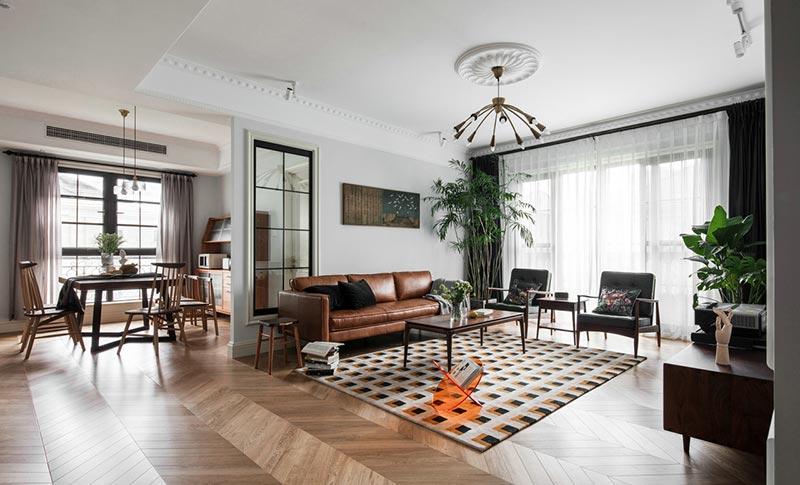 160平大名城现代美式风格装饰