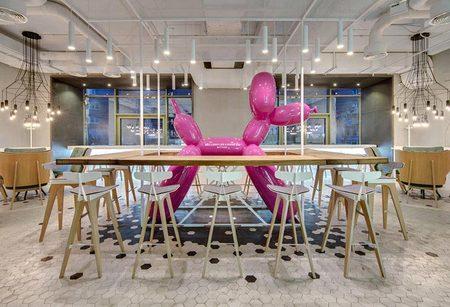 300平甜点简餐店铺装饰